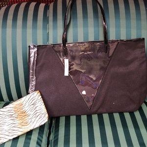 Bundle of 2 Victorias Secret Tote & Cosmetic Bag